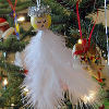 Feather Angel Ornaments