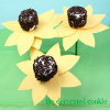 Sunny Sunflower Marshmallow Pops