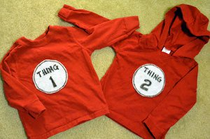 Thing 1 and Thing 2 DIY Costumes