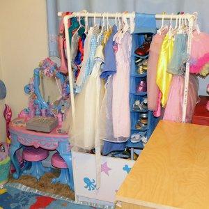 pvc dress up rack. Black Bedroom Furniture Sets. Home Design Ideas