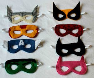 Fantastic Felt Superhero Masks