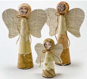 Cheerful Cone Angel Family