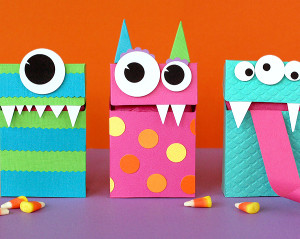 Adorable Monster Treat Bags