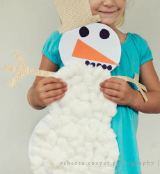 Cuddly Cotton Ball Snowman