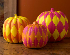 Funky Harlequin Pumpkins