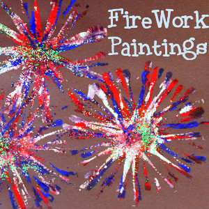 Pipe Cleaner Firework Painting