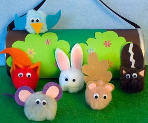 wild animals pocket pals 11 Fairytale Crafts to Make Your Heart Flutter